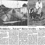 """1996-08-10 - Fröhliche """"Talent""""-Reise Abelitz - Aurich"""