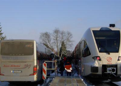 Der Arriva-Triebwagen aus Groningen